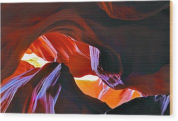 Wood Print featuring the photograph Somewhere In Waves In Antelope Canyon by Lilia D