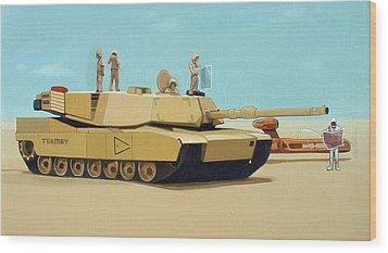 Somewhere Outside Baghdad Wood Print by Scott Listfield