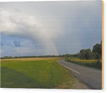 Somewhere Under The Rainbow Wood Print