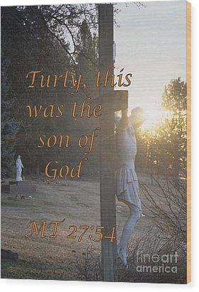 Son Of God Wood Print by Sharon Elliott