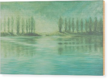 Wood Print featuring the painting Song For Monet by Laurie Stewart