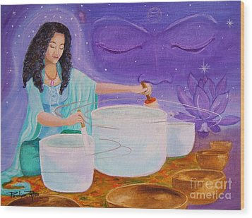Song Of Inner Peace Wood Print by Pauline Ross