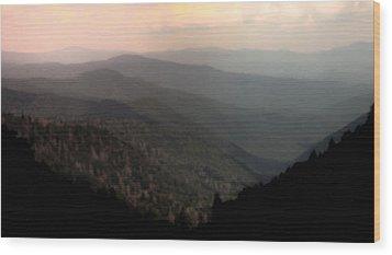 Song Of Serenity Wood Print by Karen Wiles