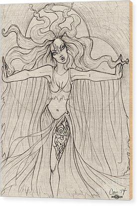 Song Of The Banshee Wood Print by Coriander  Shea