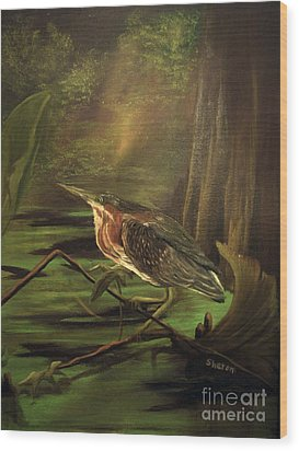 Song Of The Everglades Wood Print by Sharon Burger