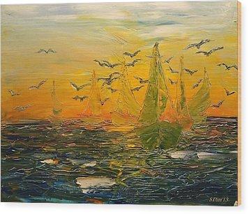Song Of The Wind Wood Print by Svetla Dimitrova