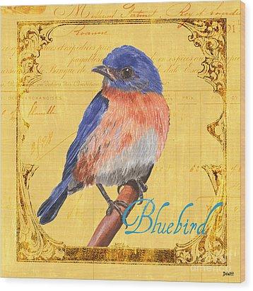 Colorful Songbirds 1 Wood Print by Debbie DeWitt