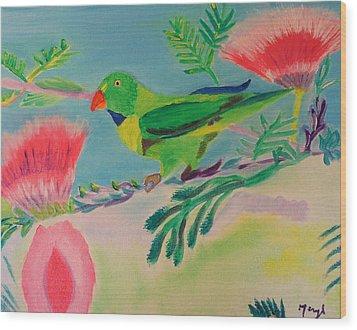 Songbird Wood Print by Meryl Goudey