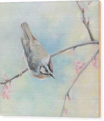 Songbird Wood Print by Natasha Denger