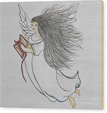 Songs Of Angels Wood Print by Eloise Schneider