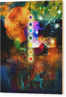Sonic Ascension Wood Print by Bruce Manaka