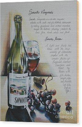 Sonoita Vineyards Wood Print by Alessandra Andrisani