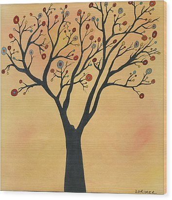 Sonoma State Of Mind Wood Print by Valerie Lorimer