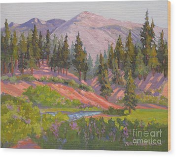 Sonora Pass Meadow Wood Print by Rhett Regina Owings
