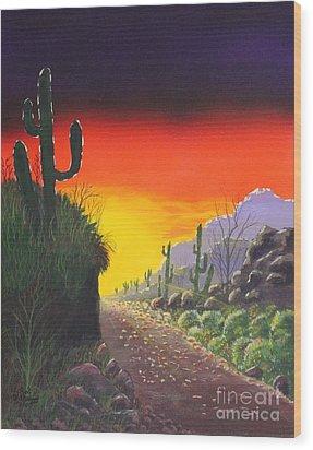 Sonoran Sunrise Wood Print
