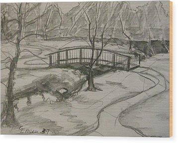 Sope Creek Bridge Wood Print by Gretchen Allen