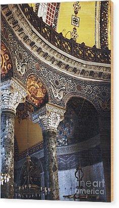 Sophia Balcony Wood Print by John Rizzuto