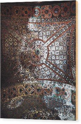 Sophia Ceiling Mural Wood Print by John Rizzuto
