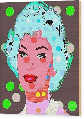 Sophia Loren Wood Print by Ricky Sencion