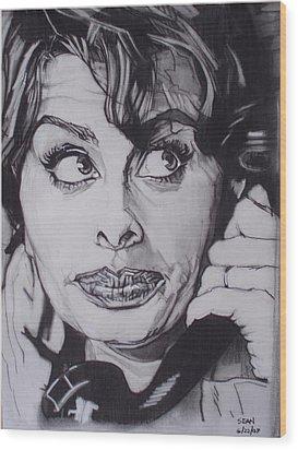 Sophia Loren Telephones Wood Print