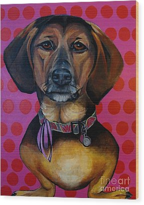 Sophia - My Rescue Dog  Wood Print