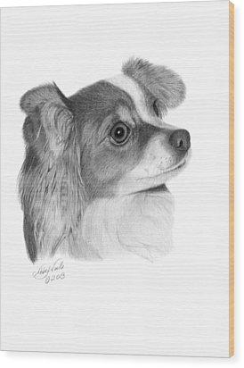 Sophie - 013 Wood Print by Abbey Noelle