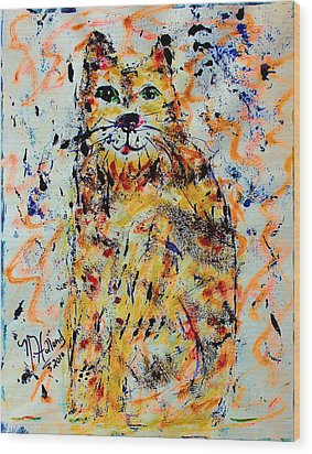 Sophisticated Cat 3 Wood Print