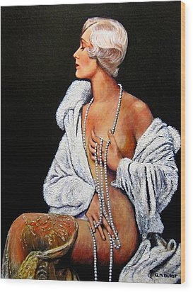 Sophisticated Lady Wood Print by Michael Durst