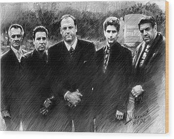 Sopranos James Gandolfini Wood Print