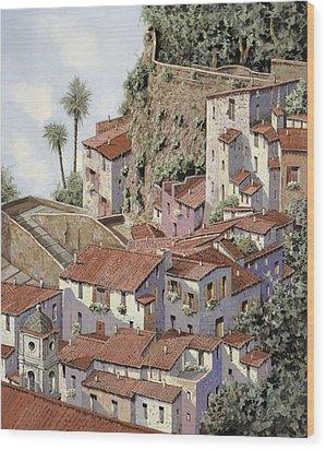 Sorrento Wood Print by Guido Borelli