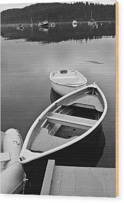 Sorrento Harbor Boats Wood Print