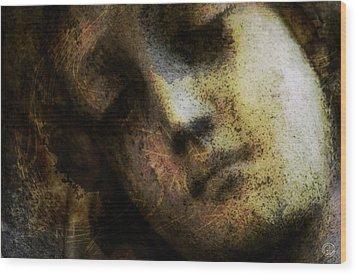 Sorrow Captured In Stone Forever Wood Print by Gun Legler