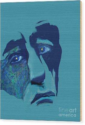 Wood Print featuring the digital art Sorrow by Gabrielle Schertz