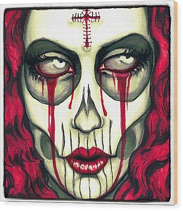 Sorrow Wood Print by Shayne  Bohner