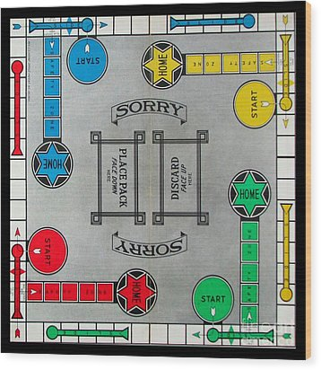 Sorry Board Game Wood Print