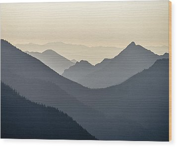 Sostice In The Olympic Mountains Wood Print by Ronda Broatch