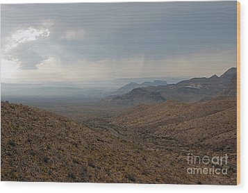 Sotol Scenic Overlook Big Bend National Park Wood Print by Shawn O'Brien