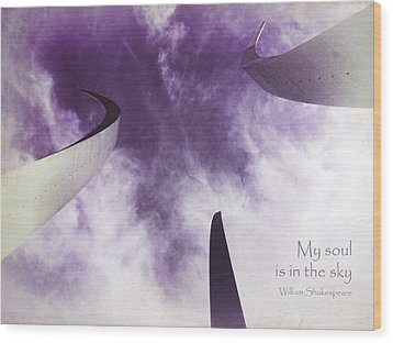 Soul In The Sky - Us Air Force Memorial Wood Print