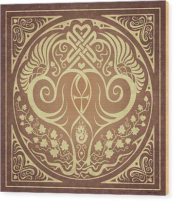 Soul Mates - Gold Wood Print by Cristina McAllister
