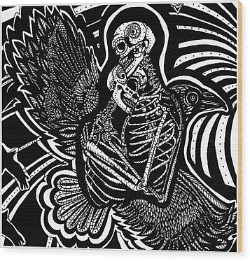 Soul Mates Wood Print by Judy Moon