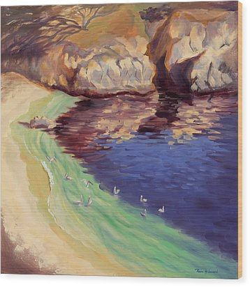 Soulful Sanctuary Point Lobos Wood Print by Karin  Leonard
