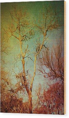 Souls Of Trees Wood Print