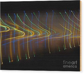 Soundcloud. Dancing Lights Series Wood Print by Ausra Huntington nee Paulauskaite