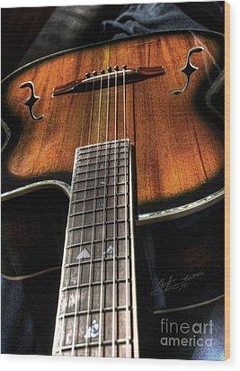 Sounding Off Digital Guitar Art Bt Steven Langston Wood Print by Steven Lebron Langston