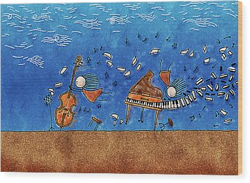 Sounds Blown In The Wind Wood Print by Gianfranco Weiss
