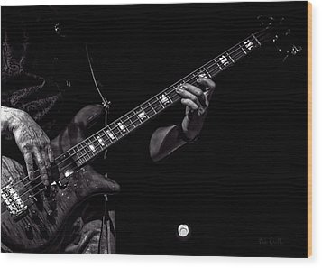 Wood Print featuring the photograph Sounds In The Night Bass Man by Bob Orsillo