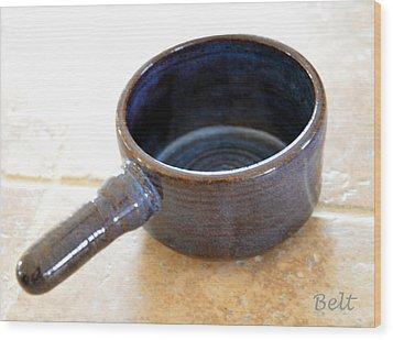 Soup Connoisseur Wood Print by Christine Belt
