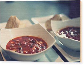 Soup Wood Print