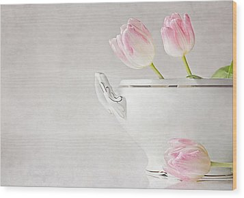 Soup Of Tulips Wood Print by Claudia Moeckel