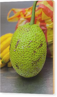 Soursop Or Guanabana Wood Print by Craig Lapsley